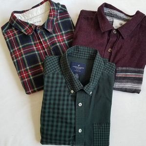 American Eagle + On the Byas button down shirts M